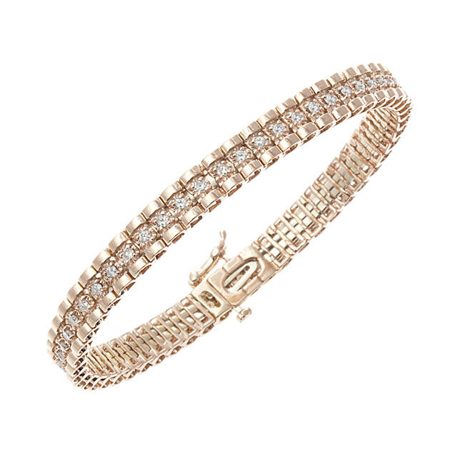Rose Gold Tickle Diamond Bangle