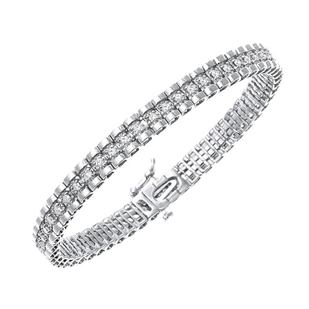 White Gold Tickle Bangle