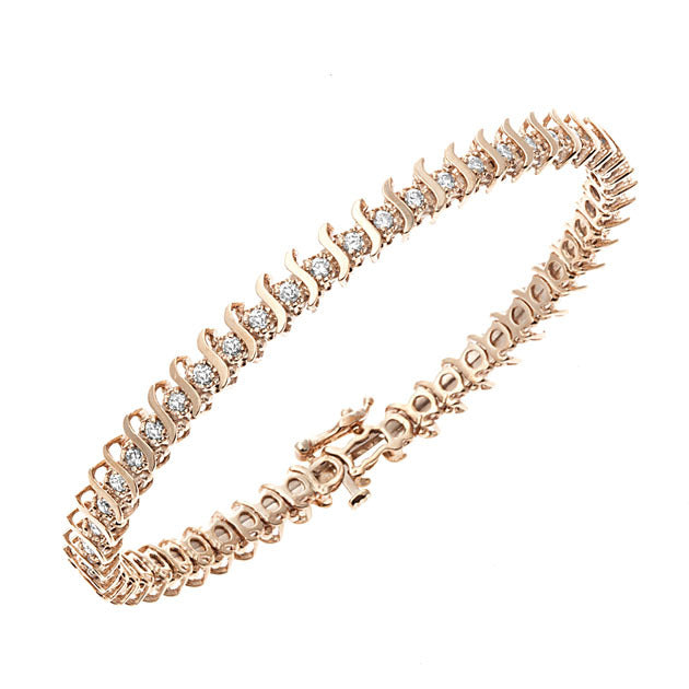 Rose Gold Diamond Bar Bangle