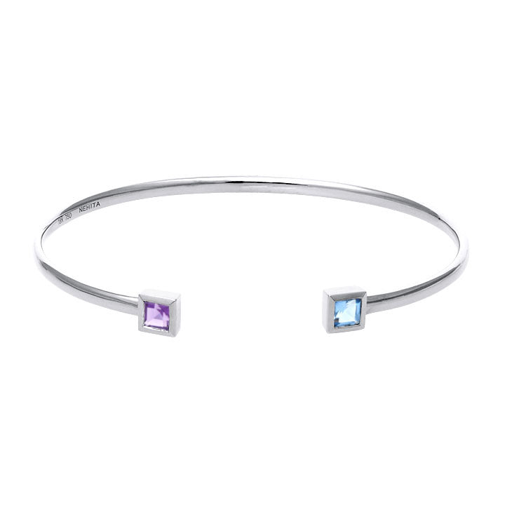 White Gold Cuff Bangle