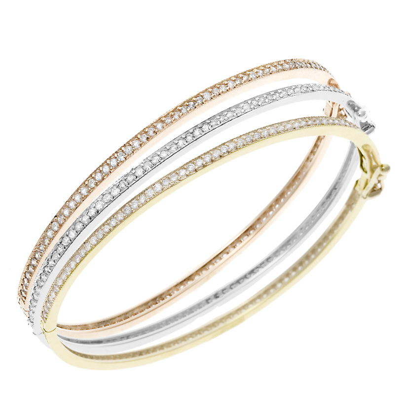 Triple Eternity Diamond Bangles