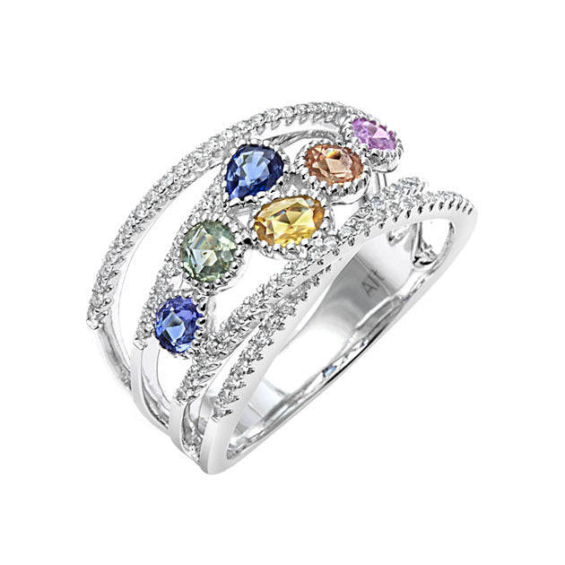 Confetti Collection ~ Multi-Gemstone Ring