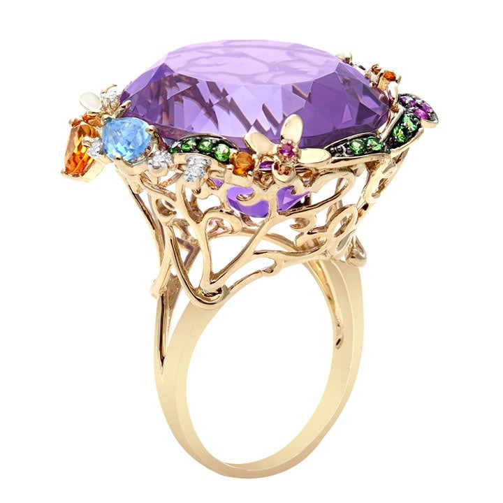 Exotic Amethyst Ring