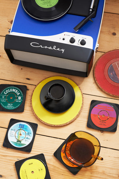 Record drinks coasters
