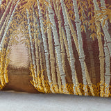 Gold Bamboo Cushion Upcycled Vintage Obi