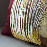 Gold Embroidery Vintage Kimono Pillow Sham Detail