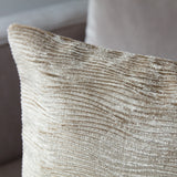 Light Gold Velvet Cushion Back