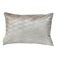 Designer Velvet Cushion Reverse Pale Gold