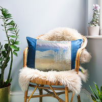 Blue Mountain Japanese Kimono Pillow