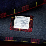 Designer Cushion Limited Edition in Grey Navy Wool Tartan