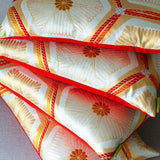 Limited Edition Obi Cushions Gold Red Silk