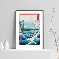 Hiroshige Sea at Satta Woodblock Art Print