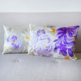 Limited Edition Vintage Japanese Cushions Purple Cream Silk