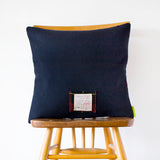 Navy Wool Tartan Cushion Gannex Mill Elland Yorkshire Lord Kagan