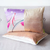 Rose Gold Luxury Accent Pillow Purple Pink Embroidery