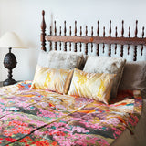 Silk Throw Blanket Vintage Wedding Kimono Bedspread