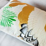 Oriental gold cushion