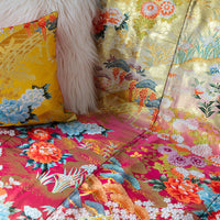 Detail of Vintage Silk Throw Upcycled Luxe Wedding Kimono