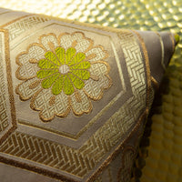 Antique gold silk pillows
