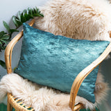 Blue Velvet Cushion Back Petrol Blue