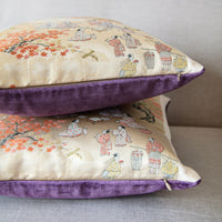 Antique Kimono Pillow Covers