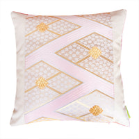 Blush designer silk pillow cover