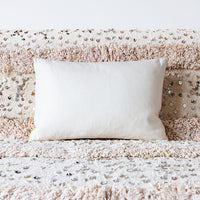 Cream Silk Cushion Back Gold Waves Pillow