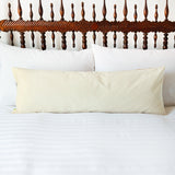 cream velvet long pillow