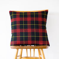Gannex Tartan Cushion Vintage 1960s Wool Pillow