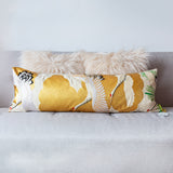 Oriental gold bolster pillow