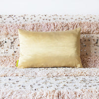 Gold cushion back vintage obi pillow