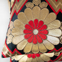 Gold Floral Pillow