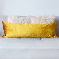 Gold velvet pillow reverse
