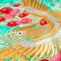Golden Phoenix Japanese Silk Embroidery