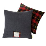 Grey Wool Tartan Cushion 1960s Gannex The Duke
