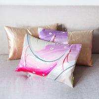 Japanese Kimono Cushion Pink Peacock Birds