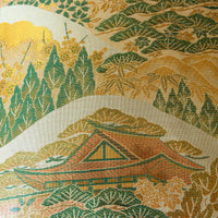 Japanese temple obi pillow Nishijin Silk