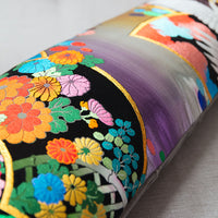 Metallic Rainbow Bolster Pillow