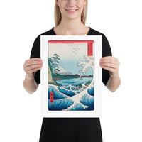 "12x16"" Hiroshige Sea at Satta Woodblock Art Print"