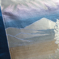 Mountain Cushion Japanese Obi PIllow Detail