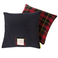 Navy and Tartan Double Sided Cushion