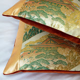 Orange velvet Obi Pillows