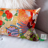 Phoenix embroidery pillow