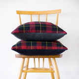 Tartan Cushions with Grey or Navy Wool Backs