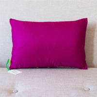Plain purple silk cushion back