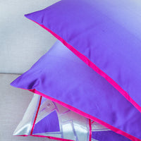 Purple Pink Double Sided Cushion Upcycled Vintage Japanese Obi