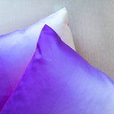 Purple Silk Pillow Pink Back Vintage Obi Cushion