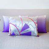Purple Silver Cushions Fuschia Pink Silk Back
