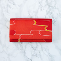 Red Kimono Bag Vintage Silk Clutch Bag