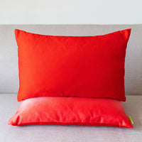 Red Silk Cushion Ombre Dipdye Throw Pillow